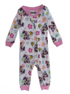 Disney Baby Girls White Pink Minnie Mouse Daisy Duck Footless Sleeper 12-24M