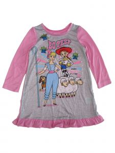 Disney Little Girls Pink Toy Story 4 Bo Peep Nightgown 2T-4T