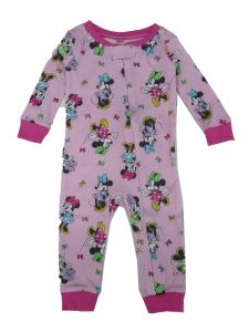 Disney Baby Girls Pink Minnie Mouse Long Sleeve Footless Pajama Jumper 12M-24M