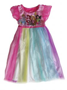 Disney Little Girls Multi Color Princess Print Nightgown 2-4T