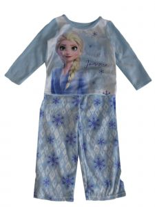 Disney Little Girls Blue Frozen Elsa Believe In The Journey Pajama Set 2-4T