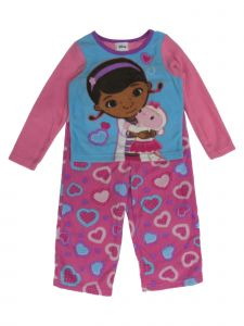 Disney Junior Little Girls Pink Doc McStuffins Long Sleeve 2 Pcs Pajamas 2-4T