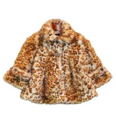 Big Girls Snow Leopard Faux Coat 7-12