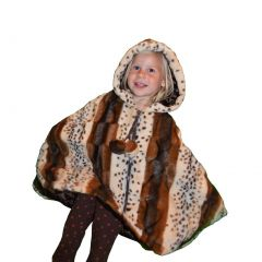 Little Girls Tiger Lilly Faux Poncho 1T-6