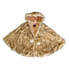 Little Girls Crystal Fox Faux Poncho 1T-6