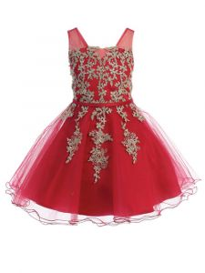 Big Girls Burgundy Illusion Neck Wired Tulle Junior Bridesmaid Easter Dress 14