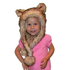Big Girls Crystal Fox Faux Hat 6-12
