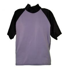 Big Boys Grey Black Sleeves  Rash Guard Top 6-16