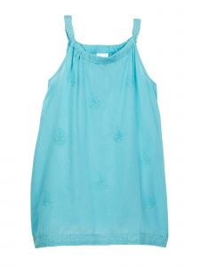Azul Little Girls Aqua Solid Color Renaissance Sleeveless Tunic 2T-7