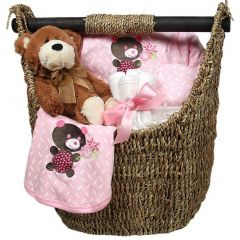 Raindrops Baby Girls Welcome Home 9-Piece Gift Set, Pink, 3-6M