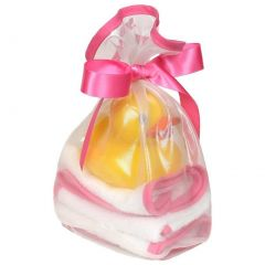 Raindrops Baby Girls Loved 5 Pc Wash Cloth And Rubber Ducky Set Cotton Candy One Size