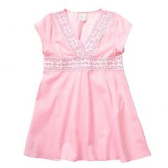 Azul Little Girls Pink V-Shape Neckline Cap Sleeve Tunic Cover Up 2T-7