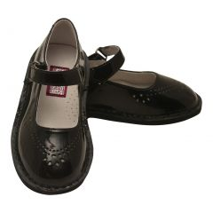 L'Amour Little Girls Black Patent Perforated Mary Jane Shoes 5-10 Toddler