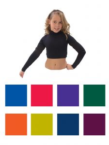 Pizzazz Girls Multi Color Gymnastics Body Basics Crop Top Youth 2-16