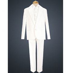 Boys White Special Occasion Formal Single Button Tuxedo Suit Set 4-14