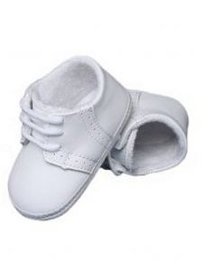 Baby Boys White Leather Saddle Oxford Perforated Crib Shoes 0-4 Baby