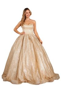 Cinderella Couture Juniors Multi Color Metallic Glitter Ball Gown XS-XL