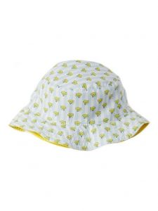 Azul Boys Light Blue Yellow Submarine Print Reversible Sun Hat 2M-5Y