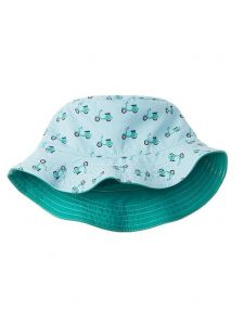 Azul Boys Green Scooter Print Reversible Bucket Summer Hat 2M-5Y