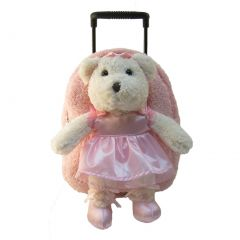 Kreative Kids Girls Pink Ballerina Bear Plush Roller