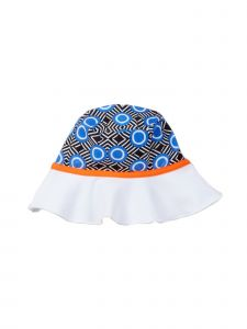Azul Girls Blue Orange Circle Diamond Hakuna Matata Sun Hat 6M-5Y