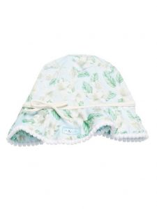 Azul Little Girls Green Perfectly Prim Sun Hat 1-2