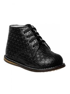 Josmo Unisex Black Woven Hard Sole Walker Casual Shoes 2 Baby-8 Toddler