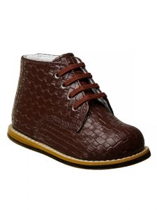 Josmo Unisex Burgundy Woven Hard Sole Walker Casual Shoes 2 Baby-8 Toddler
