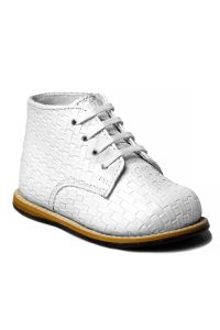 Josmo Unisex White Woven Hard Sole Walker Casual Shoes 2 Baby-8 Toddler