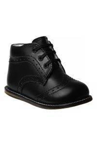 Josmo Unisex Black Hard Sole Walker Casual Shoes 2 Baby-8 Toddler