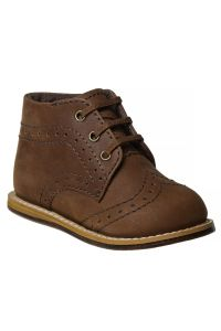 Josmo Unisex Brown Hard Sole Walker Casual Shoes 2 Baby-8 Toddler