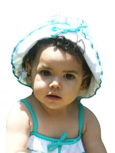 Azul Girls Aqua Life Is A Picnic Hat 6M-5