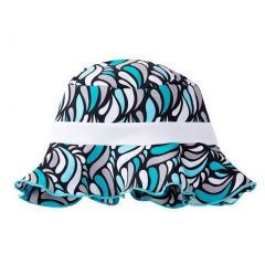 Azul Girls Aqua Turquoise Color Shade Mix Funky Cloud 9 Sun Hat 6M-5Y