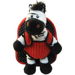 Kreative Kids Girls Red Black White Zebra Plush Cute Stylish Animal Backpack