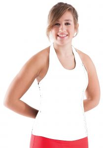 Pizzazz Women White MVP Halter Top Adult Small