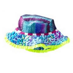 Azul Girls Turquoise Fuchsia Yellow In The Mix Stylish Sun Hat 6M-5Y