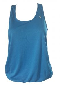 Deep Blue Women Blue Racerback Yoga Tank Top 6-14