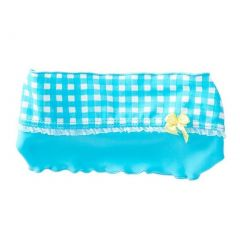 Azul Girls Turquoise Checker Print Modern Romance Stylish Headband