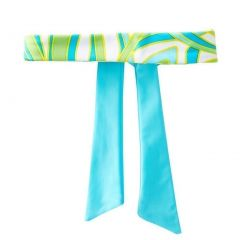 Azul Girls Green Blue Delicate Print Happy Spring Stylish Headband