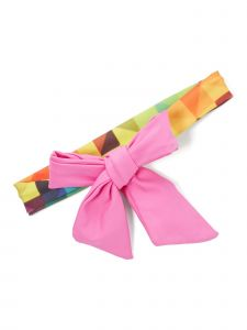 Azul Girls Multi Color Pink Ribbon Tie AccentGeneration Y Trendy Headband