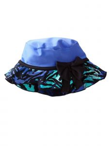 Azul Girls Purple Black Bow Detail Party Animal Hat 6M-2