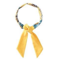 Azul Girls Yellow Blue Paisley Printed Urban Boho Stylish Headband