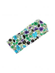 Azul Girls Aqua Black Violet Floral Pattern All Over Swimwear Headband