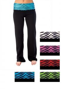 Pizzazz Girls Multi Color Roll-Down Waist Pants Youth 2-16