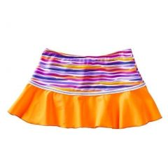 Azul Little Girls Orange Purple Stripe Lilac and Stitch Swim Skirt 2T-7