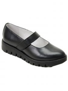 Pazitos Girls Black Grippy Outsole Mary Jane Back To School Shoes 1 Kids