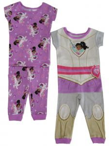 "Nickelodeon Toddler Girls Purple ""Princess Knight"" 2 pair 2pc Pajama set 2T-4T"