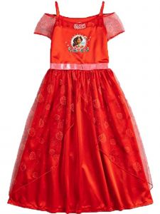 Disney Little Girls Red Princess Elena of Avalor Nightgown 4-6