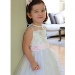 Angels Garment Pink Satin Flower Girl Special Occasion Dress 2T-6