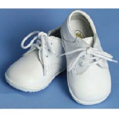 Angels Garment Baby Boys White Oxford Dress Shoes 4